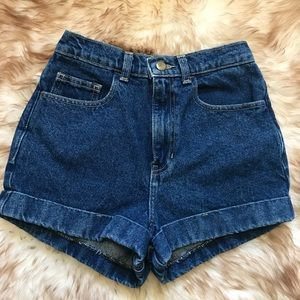 American Apparel Denim High Waisted Shorts size 25